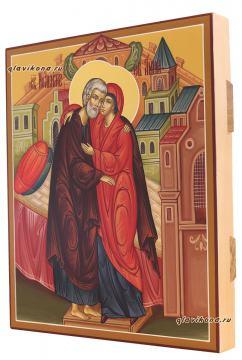 Праведные Иоаким и Анна, вид иконы сбоку