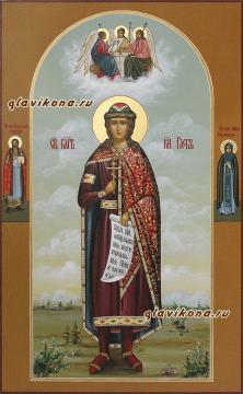 Благоверный князь Глеб, мерная икона артикул 163