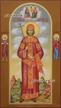 Святой царь Константин, писаная мерная икона артикул 167