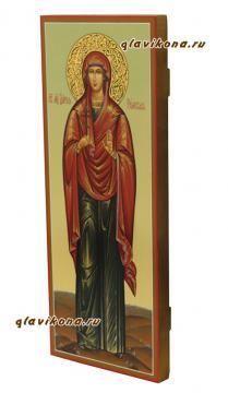 Дария Римская: вид мерной иконы сбоку