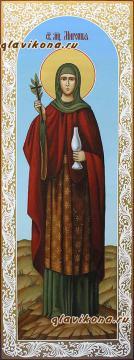 Мученица Миропия, мерная икона с узорами