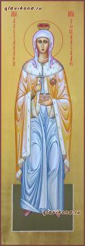 Святая императрица Александра, мерная икона, артикул 191