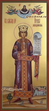 Великомученица Ирина Македонская, мерная икона, артикул 192