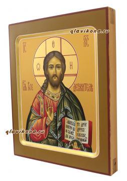 Писаная икона Спасителя с ковчегом, артикул 605 - вид сбоку