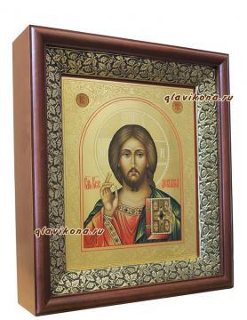 Икона Спасителя, артикул 618 - вариант оформления в киот
