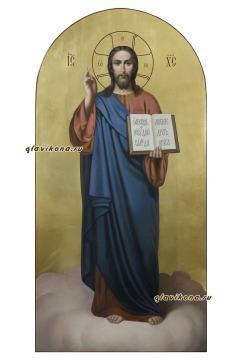 Господь в полный рост, икона написанная маслом