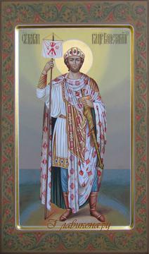 Мерная икона Константина с узорами на полях, артикул 154