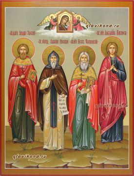 Семейная икоан с четырьмя святыми, артикул 4012