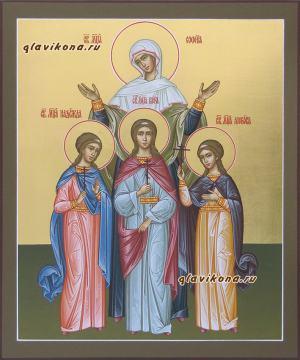 Писаная икона Софии, Веры, Надежды, Любви, артикул 402