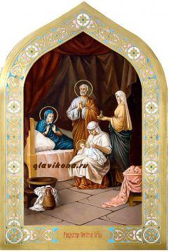 Писаная икона Рождества Пресвятой Богородицы, артикул 414