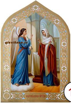 Благовещение Пресвятой Богородицы, писаная икоан маслом артикул 416