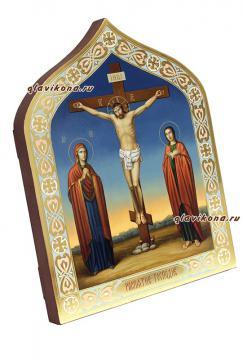 Распятие Христово, живописная икона артикул 422 - вид сбоку
