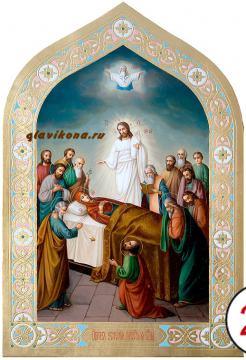 Успение Пресвятой Богородицы, писаная икона маслом артикул 434