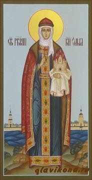 Святая княгиня Ольга, мерная икона артикул 104