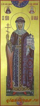 Мерная икона равноапостольной Ольги, артикул 105
