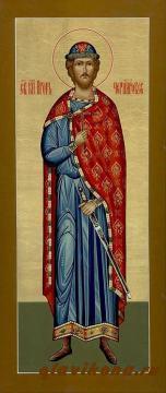 Мерная рукописная икона Игоря Черниговского, артикул 109