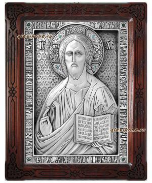 Серебряная икоан Господа Вседержителя, артикул 11185