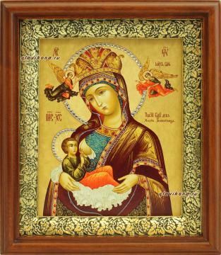 Млекопитательница Божия Матерь, икона на холсте в широком киоте