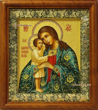 Взыскание погибших Божия Матерь (с узорами), икона на холсте в широком киоте
