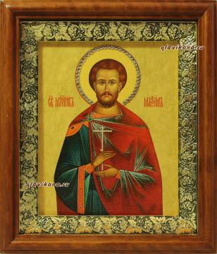 Максим Антиохийский, икона на холсте в широком киоте
