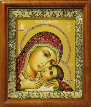Корсунская Божия Матерь, икона на холсте в широком киоте