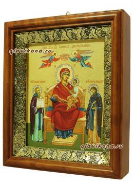 """Образ Божией Матери """"Экономисса"""", артикул 60604, вид иконы сбоку"""
