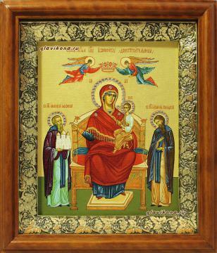 """Образ Божией Матери """"Экономисса"""", печать на холсте, в киоте, артикул 60604"""