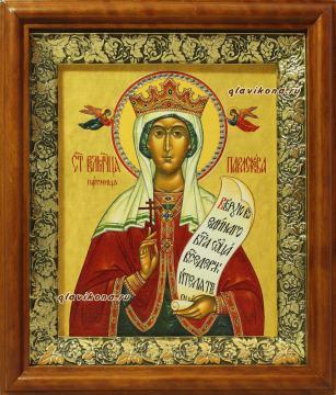Параскева Пятница, икона на холсте в широком киоте