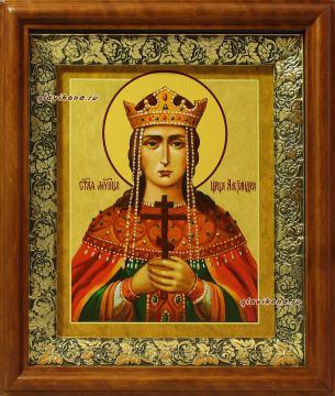 Александра царица, икона на холсте в широком киоте