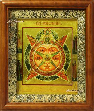 Всевидящее око Божие, икона на холсте в широком киоте