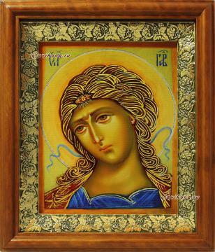 Златы власы (Архангел Гавриил), икона на холсте в широком киоте