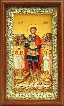 Икона на холсте в киоте святого мученика Уара, артикул 60618