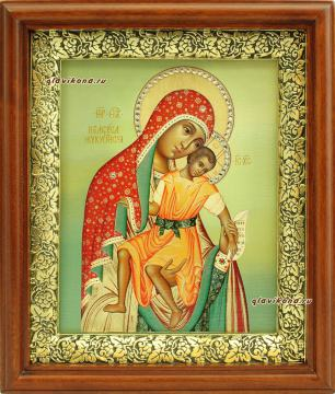 Милостивая Киккская Божия Матерь, икона на холсте в широком киоте