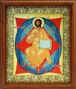 Спас в Силах, икона на холсте в широком киоте