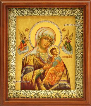 """Образ Божией Матери """"Страстная"""", икона в киоте, со стразами"""
