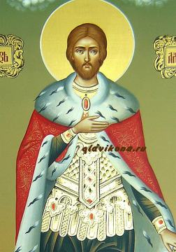 Мерная икона Александра Неского, артикул 134 - детали образа