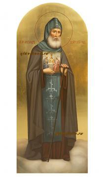 Мерная икона Александра Свирского, артикул 142