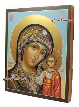Писаная икона Казанской Богородицы, артикул 5339 - вид сбоку
