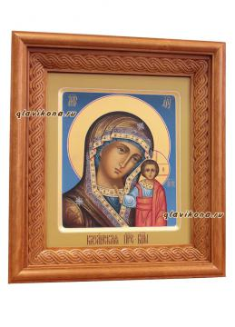 Икона Казанской Божией Матери, артикул 201 - один из вариантов оформления иконы в киоте