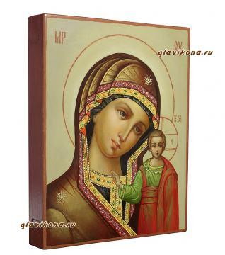 Казанская Божия Матерь, икона написанная маслом, артикул 267 - вид сбоку
