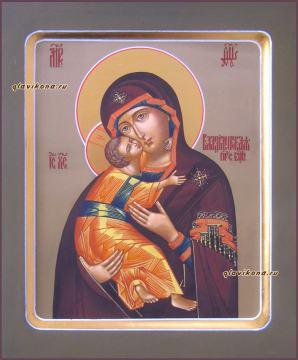 Изображение писанной иконы Владимирской Божией Матери, артикул 207