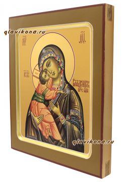 Образ Владимирской Богордицы, артикул 228 - вид иконы сбоку