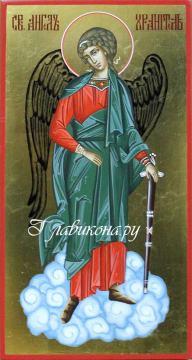 Ростовая икона святого Ангела Хранителя, написанная на доске, артикул 713