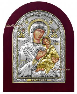 """Обораз Божией Матери """"Страстная"""", икона в серебряном окладе акртикул 42018"""