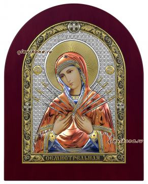Божия Матерь Семистельная, икона в себерянной ризе, артикул 42020