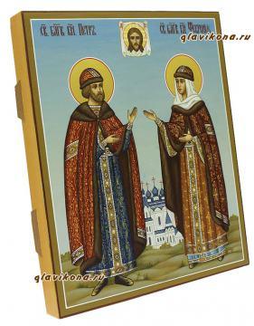Святые Петр и Феврония, артикул 801 - вид сбоку