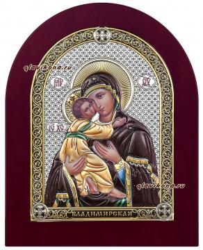 Святой образ Владимирской Божией Матери, икона в серебряной ризе, артикул 21021