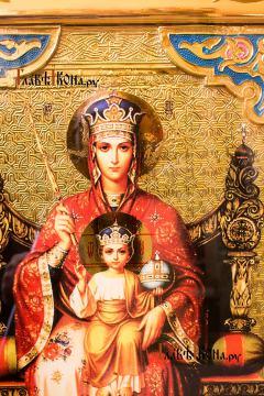 Образ Пресвятой Богородицы Державная, большая храмовая икона - лик