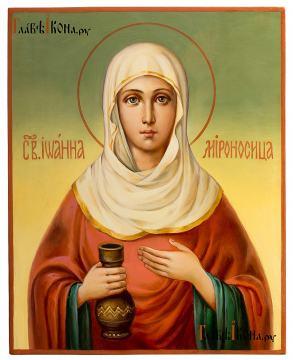 Иоанна Мироносица, рукописная икона маслом