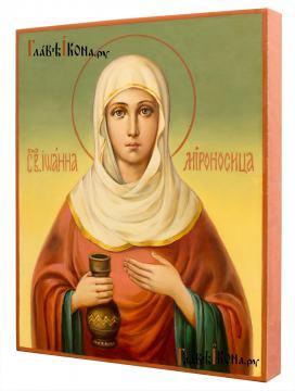 Иоанна Мироносица, рукописная икона маслом - вид сбоку